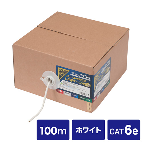 SANWA CAT 6E 超高速網路線(100m)